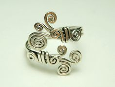 sterling silver wire  ring  curly ring Special price by keoops8,