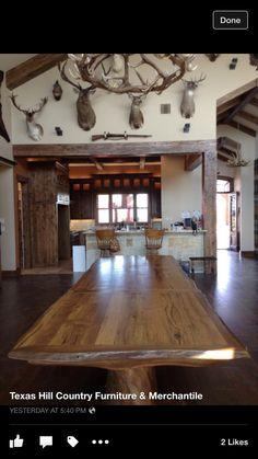 13' custom handmade burr oak table