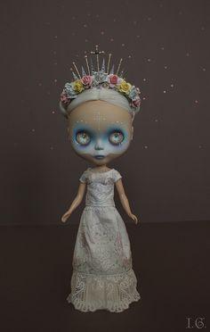 Dia de los Muertos customized Blythe by I.G. Sirenita