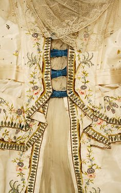 Silk evening dress, Jeanne Hallée (French, 1880–1914), ca. 1890