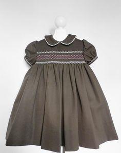 SALE 20% - Aurora Smocking Woolen Dress - 2 years. $105.00, via Etsy.
