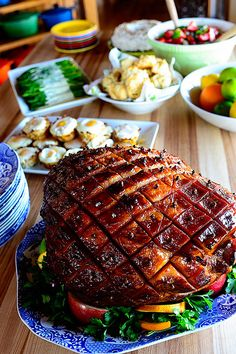 Baked Easter Ham by Ree Drummond / The Pioneer Woman ...probably use for Christmas...use Coke or Dr Pepper
