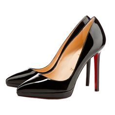 Christian Louboutin Pigalle Plato 120 Pointed Toe Platform Pumps Black