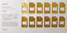 Midiori Japanese Brass paperclips