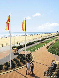 Virginia Beach Boardwalk.  Always enjoy going to the beach here.  If you get sick of sitting on the beach or swimming, you can always go shopping...lots of stores a block up from the beach.