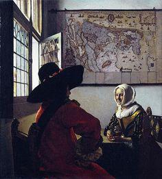 Jean Vermeer, Soldato con ragazza sorridente, 1658, Frick Collection di New York