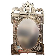 A Rectangular French Venetian Mirror   From a unique collection of antique and modern wall mirrors at https://www.1stdibs.com/furniture/mirrors/wall-mirrors/