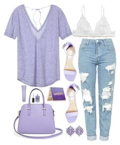 Untitled #1087 by maria-canas on Polyvore featuring polyvore fashion style Victoria's Secret Topshop Monki Steve Madden Kate Spade tarte Kate Somerville Lauren B. Beauty clothing