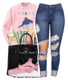 """""""ugly sweaters """" by mindset-on-mindless ❤ liked on Polyvore featuring beauty and NIKE"""