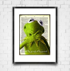 Muppets Dictionary Art Print, Kermit the Frog, Muppets Poster,  Home Decor, Ready To Ship, Digital Print, Valentines Gift, Made in USA - pinned by pin4etsy.com