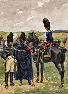 Ufficiali dei granatieri a cavallo della guardia imperiale francese - Lucien Rousselot