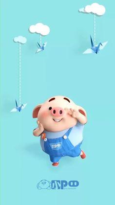 Cute Clown Makeup, Pig Wallpaper, Cute Piglets, Pig Drawing, Pig Illustration, Little Pigs, Smurfs, Character Design, Art Girl