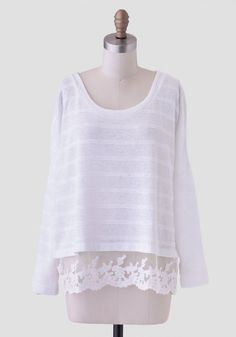 6. Mountain #Slope Sweater - 7 White #Fashion #Finds That Will Keep You Stylish after #Labor Day ... → Fashion [ more at http://fashion.allwomenstalk.com ]  #Lacy #Sweater #White #Blouse #Mountain