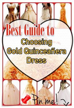 Quinceanera Guide - Gold Quinceanera Dresses In Autumn Shades. Select one of these Gold quinceanera gowns for the big day of yours! Different Dresses, Different Patterns, Unique Dresses, Dream Party, Quince Dresses, Coming Of Age, Queen, You Look Like, Social Events