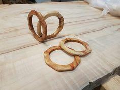 Custom made Camphor Wooden Arm bangles.  Fresh oiled,amazing grain