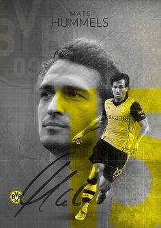 Mats Hummels   BVB Borussia Dortmund on Behance   by Stephen Pecoraro
