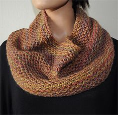 Waffle Cowl in Nocturne pattern courtesy of Crystal Palace Yarns.