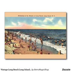 Vintage Long Beach Long Island New York Postcard
