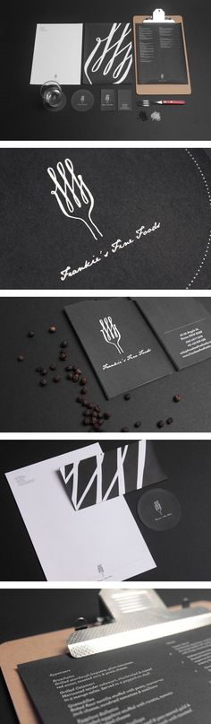 Frankie's Fine Foods / logo / design / brochures / menu / restuarant / fine dining / fancy / elegant / by Yerevan Dilanchian