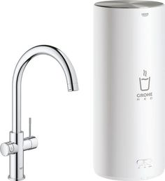 GROHE Red New Duo Keukenkraan – Kokend water kraan + Combi boiler – C-Uitloop – Chroom