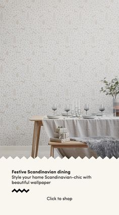 Enjoy a scandi wallpaper, with subtle festive inspiration in your space with this Scandinavian folk art wallpaper. Scandi Wallpaper, Scandinavian Wallpaper, Dining Room Wallpaper, Scandinavian Pattern, Scandinavian Interior Design, Of Wallpaper, Designer Wallpaper, Pattern Wallpaper, Red Colour Palette