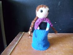 Frozen Anna knit Topsy Turvy doll cute soft by SouthSisterRevival, also have Elsa Nd are available as a set with discount.  $30.00