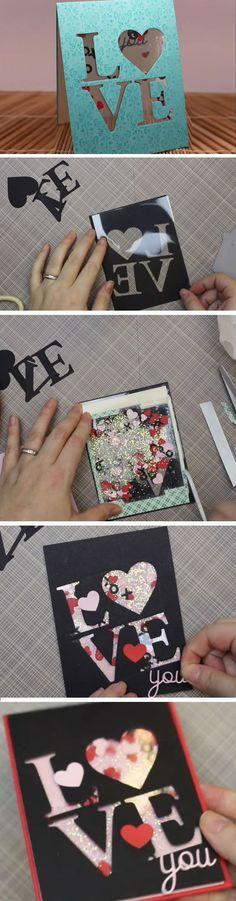 Love Shaker | DIY Valentines Cards for Him | DIY Valentines Cards for Boyfriends