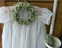 Little wreaths made of gypsophila ~ SEES Brocante