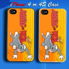 Tom and Jerry Custom iPhone 4 or 4S Case Cover