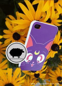 Sailor Moon LUNA Kawaii Cat iPhone 4 4s 5 5s 5c Case