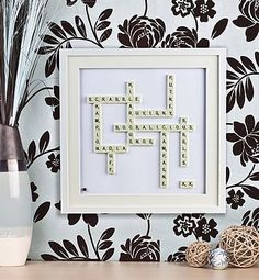 Got a couple of these personalised Scrabble Tile pictures recently... great family gift and perfect christening gift. Recipients were delighted!