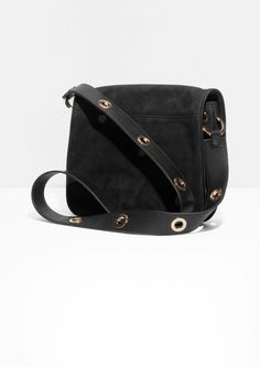 35946eb88 Other Stories | Eyelet Strap Leather Bag Cute Bags, Bucket Bag, Leather Bag