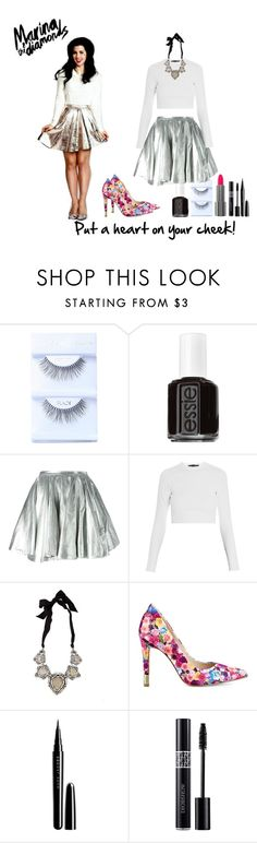 """Metallic Marina"" by missmachine ❤ liked on Polyvore featuring moda, Essie, 28.5, Proenza Schouler, Lanvin, GUESS, Marc, Christian Dior e marinaandthediamonds"