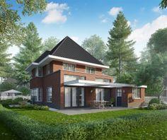 Voorkant woning haarsteeg meer informatie bongers architecten bna - Eigentijds buitenkant terras ...