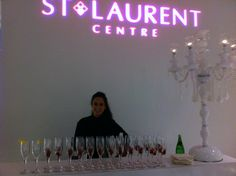 Candleabra and a custom pink gobo for St. Laurent Centre's 2011 Royal Partea