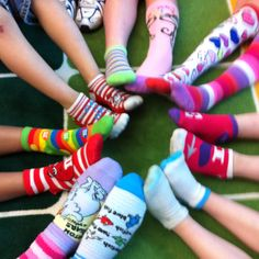 Pam, How about Crazy Sock Contest for Relay? Green Melon, Leggings Funny, Dr Seuss Week, Red Ribbon Week, Education And Literacy, Crazy Hair Days, Blue Khakis, Crazy Socks, Cute Socks