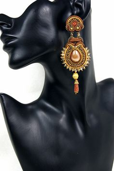 Soutache Earrings - Honey | Flickr - Photo Sharing!