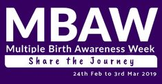 Multiple Birth Awareness Week 2019 - 'Share the journey' - Australian Multiple Birth Association Mental Health And Wellbeing, Mental Health Issues, Multiple Births, Feeling Isolated, Confidence Building, The Fosters, February, How To Memorize Things, Encouragement