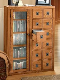 Mission Media Cabinet - CD Cabinet and DVD Storage is a tidy way to hide clutter  | Solutions