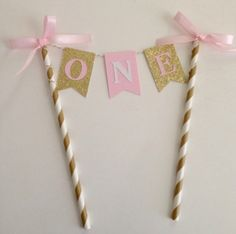 1st Birthday Pink and Gold Cake Topper ~Pink and Gold First Birthday~ Smash Cake…