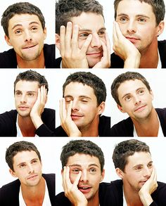 Matthew Goode -- looks so cute, even when he's bored :)