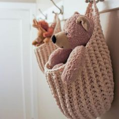 We all desire to be a little more organized! But where to put everything? Here is a creative way of gathering up all those little odds and ends around the house and make them look good!! These hanging pouches are perfect for holding your little ones favorite stuffies, pj's and toys. Works in the bathroom for holding facecloths and all your beauty essentials. Don't forget the mudroom - have pouches set about to catch all the gear and winter wear that gets shed all over the floor.This pouch…
