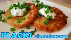 Szybkie placki ziemniaczane z młodych ziemniaków. Sposób na placki z mło... Baked Potato, Bread Recipes, Pancakes, Potatoes, Baking, Ethnic Recipes, Youtube, Food, Polish