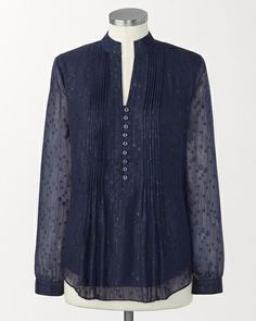 Shimmer drops blouse | Coldwater Creek