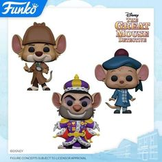 Find out what classic Disney characters are set to be released in Pop Funko form! Deadpool, The Great Mouse Detective, Naruto, Funko Figures, Disney Pop, Walt Disney Animation Studios, Batman, Pop Vinyl Figures, Disney Merchandise