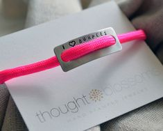 Thought Blossoms - Crossfit I Love Burpees Bracelet