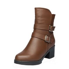 LAIKAJINDUN Women Square Heel Dress Boot Plush Lined Fashion Short Boot *** You can find more details by visiting the image link.