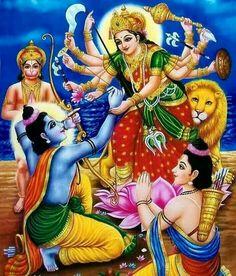 Maa Durga bless Ram and Laxman. ..for war with Ravan