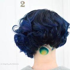 Circle Peekaboo undercut design 🤗💕 .  .  .  all happening at @cherrybomb_hair🍒🍒  Model @mindlesswander  .  . .  #cherrybomb #cherrybombhair #awesomeclients #bluehair #bobcut #modernsalon #pravanaaustralia #buzzcutfeed  #melbournehair #melbourne #melbournestylist  #hotonbeauty #hairofinstagram #americansalon  #australiahair #collingwood #bustme  #hairtattoo  #undercut    #hotforbeauty #creativehair  #undercutdesign