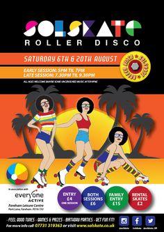 Roller Skating at Fareham Leisure Centre August 2016